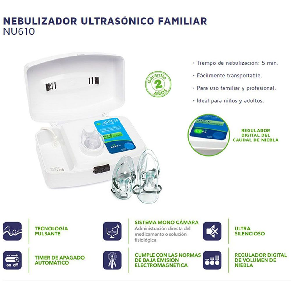 Aspen nebulizador ultrasonico familiar nu610