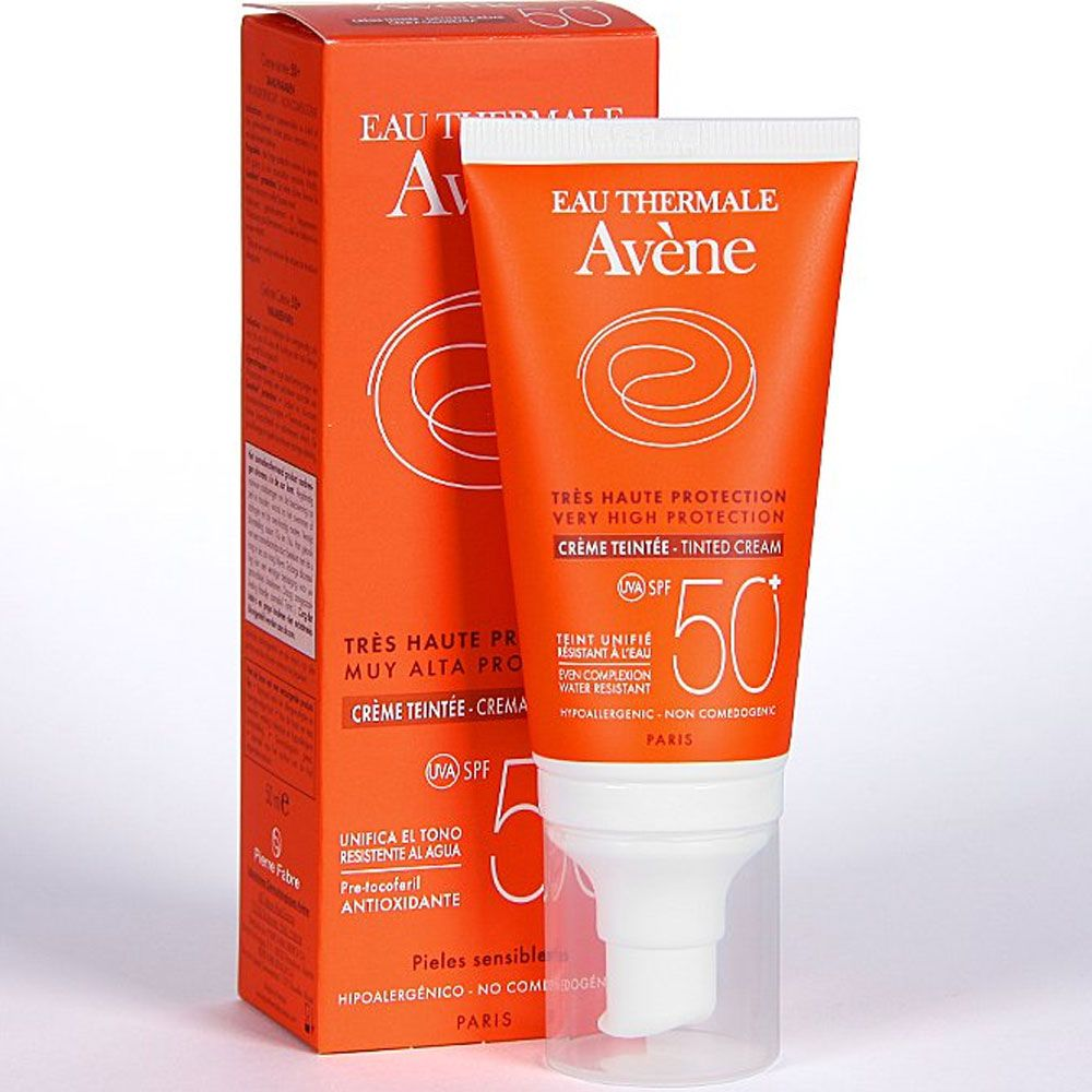 Avene solar spf50+ crema color x 50ml