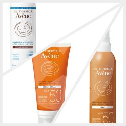 Combo 1 avene solar fps50 crema+spray+post solar