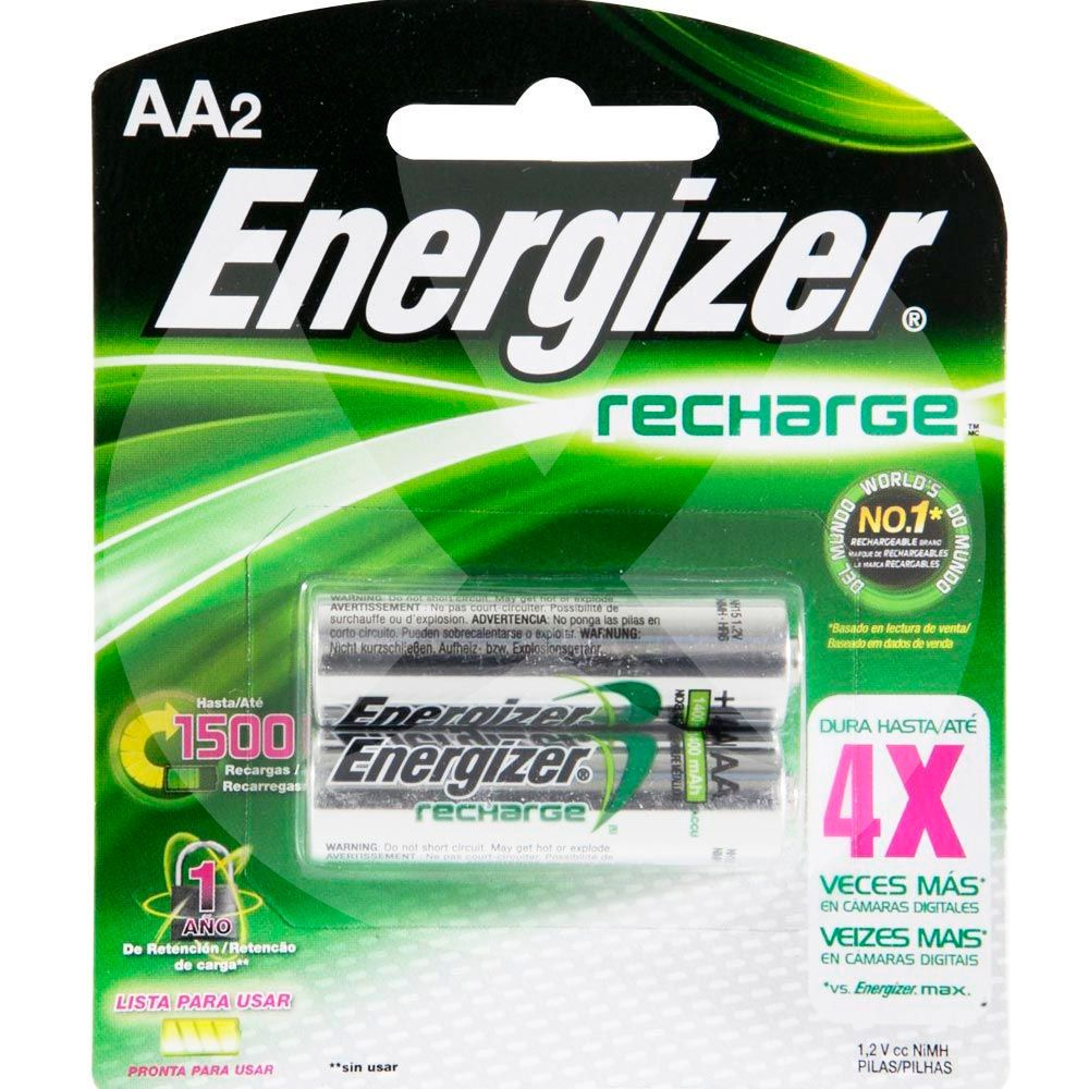Energizer pilas recargables aa x 2 farmacia leloir tu for Pilas recargables aa