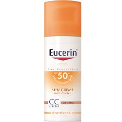 Eucerin sun fps50+ crema con color cc x 50ml