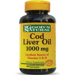 Good n natural cod liver oil 1000mg x 60 cápsulas