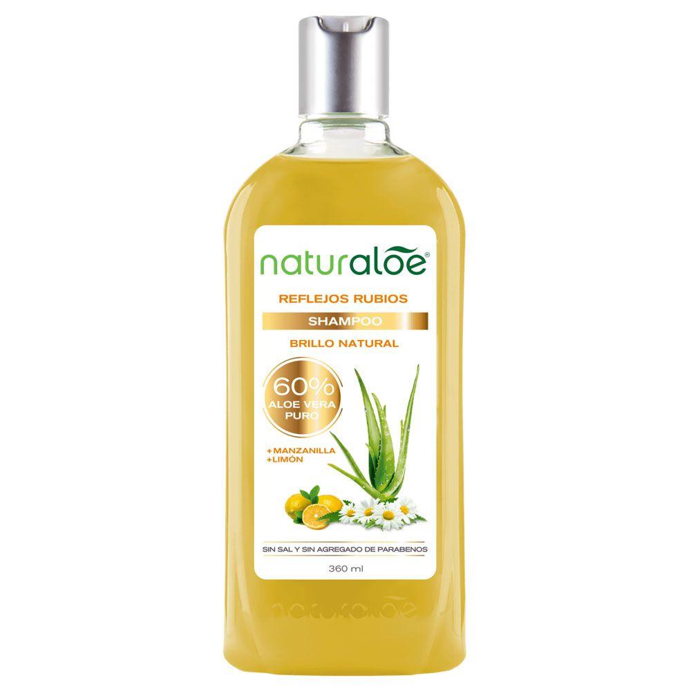 Naturaloe Shampoo Reflejos Rubios Brillo Natural X 360ml Farmacia Leloir Tu Farmacia Online Las 24hs