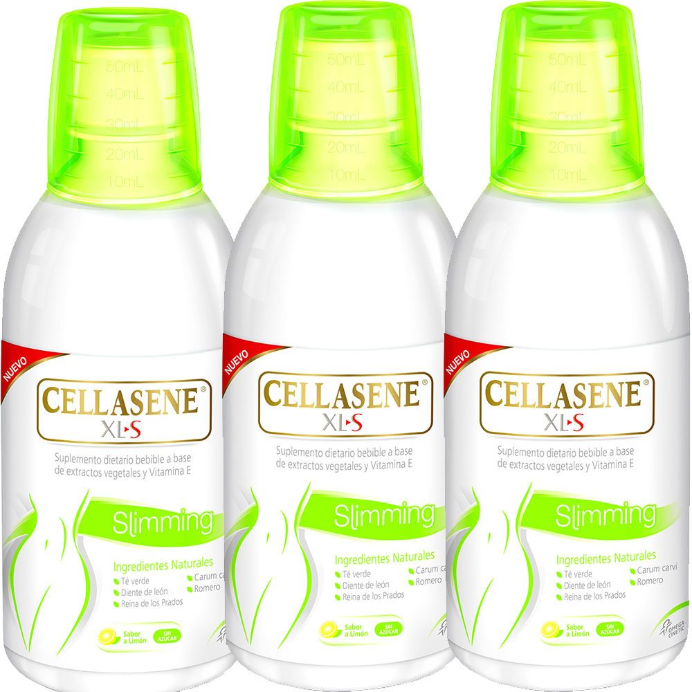 Pack 3 cellasene xl-s slimming bebible x 500ml