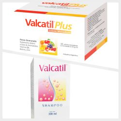 Valcatil plus 32 sobres + Valcatil shampoo 300ml