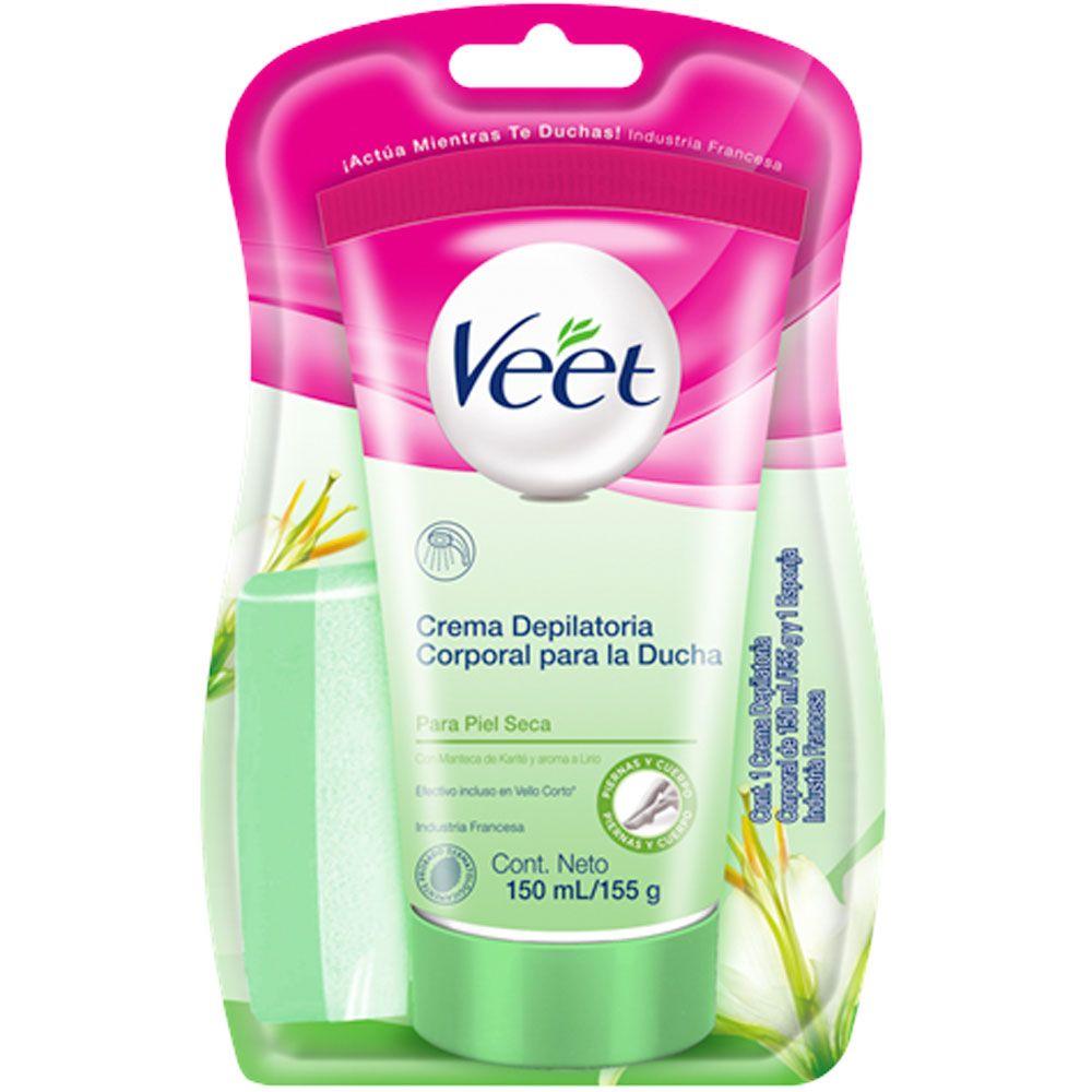 Veet crema depilatoria ducha silk   fresh pieles secas x 150ml ... c1ee33fe268f
